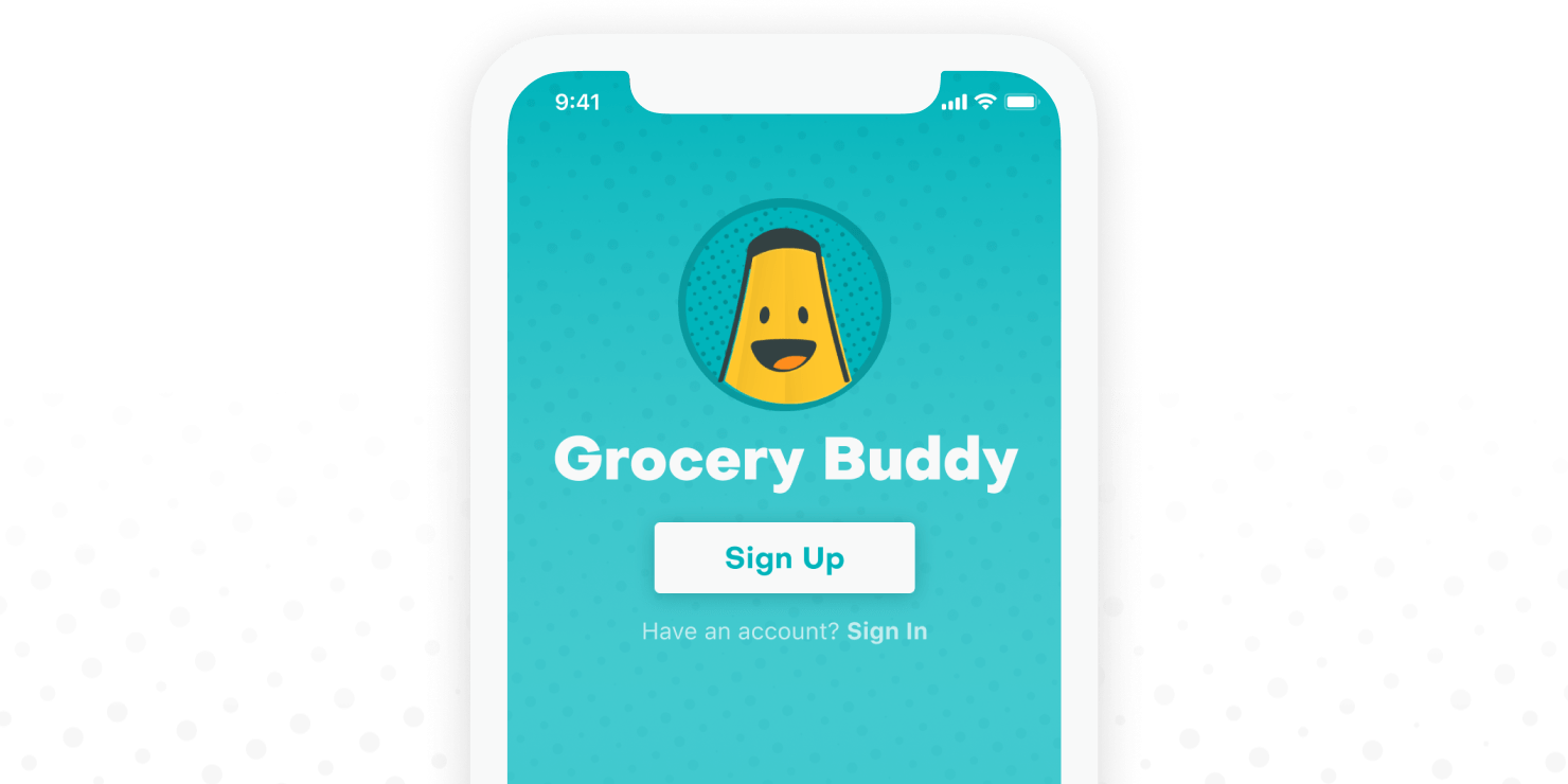 Grocery Buddy App Concept Design and Branding