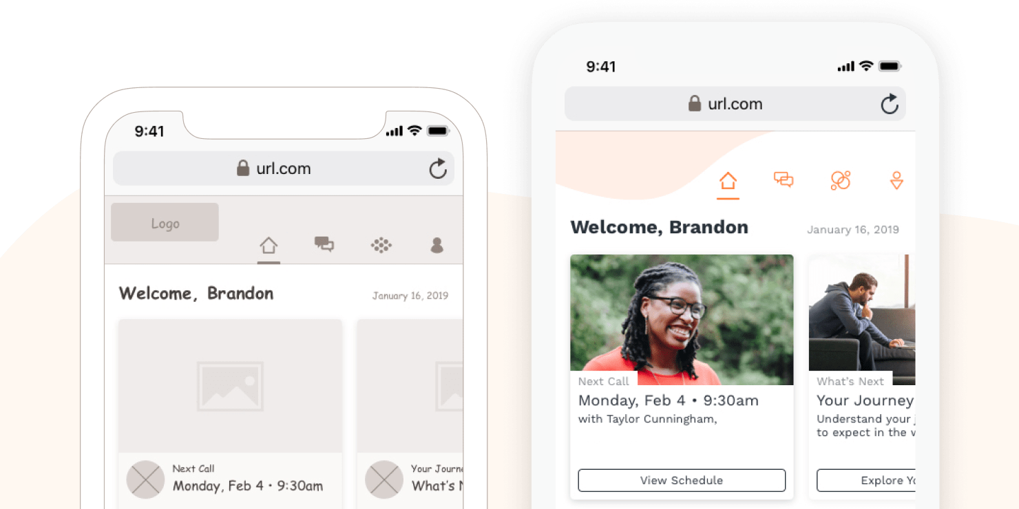Mental Health Platform UX, App, and Website Design