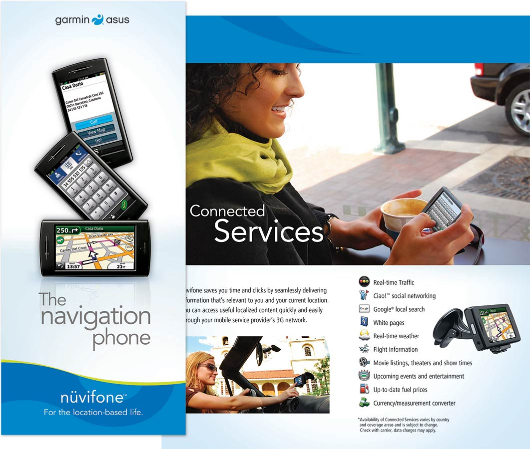 Garmin nuvifone product brochure