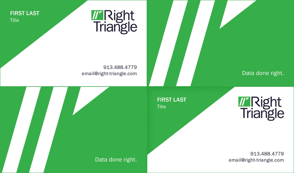 Right Triangle Business Cards.