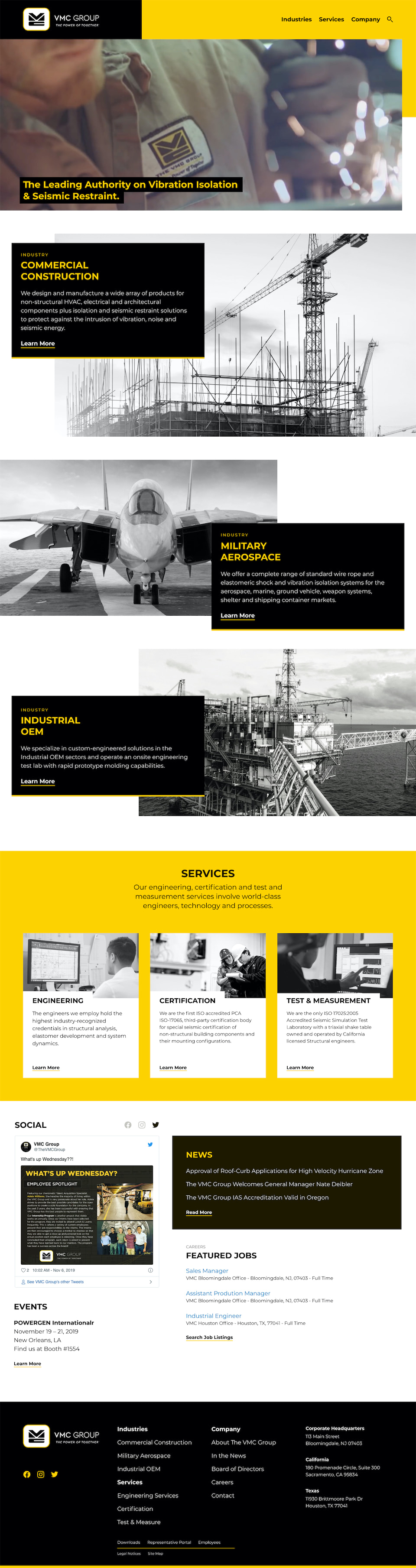 VMC Group Homepage