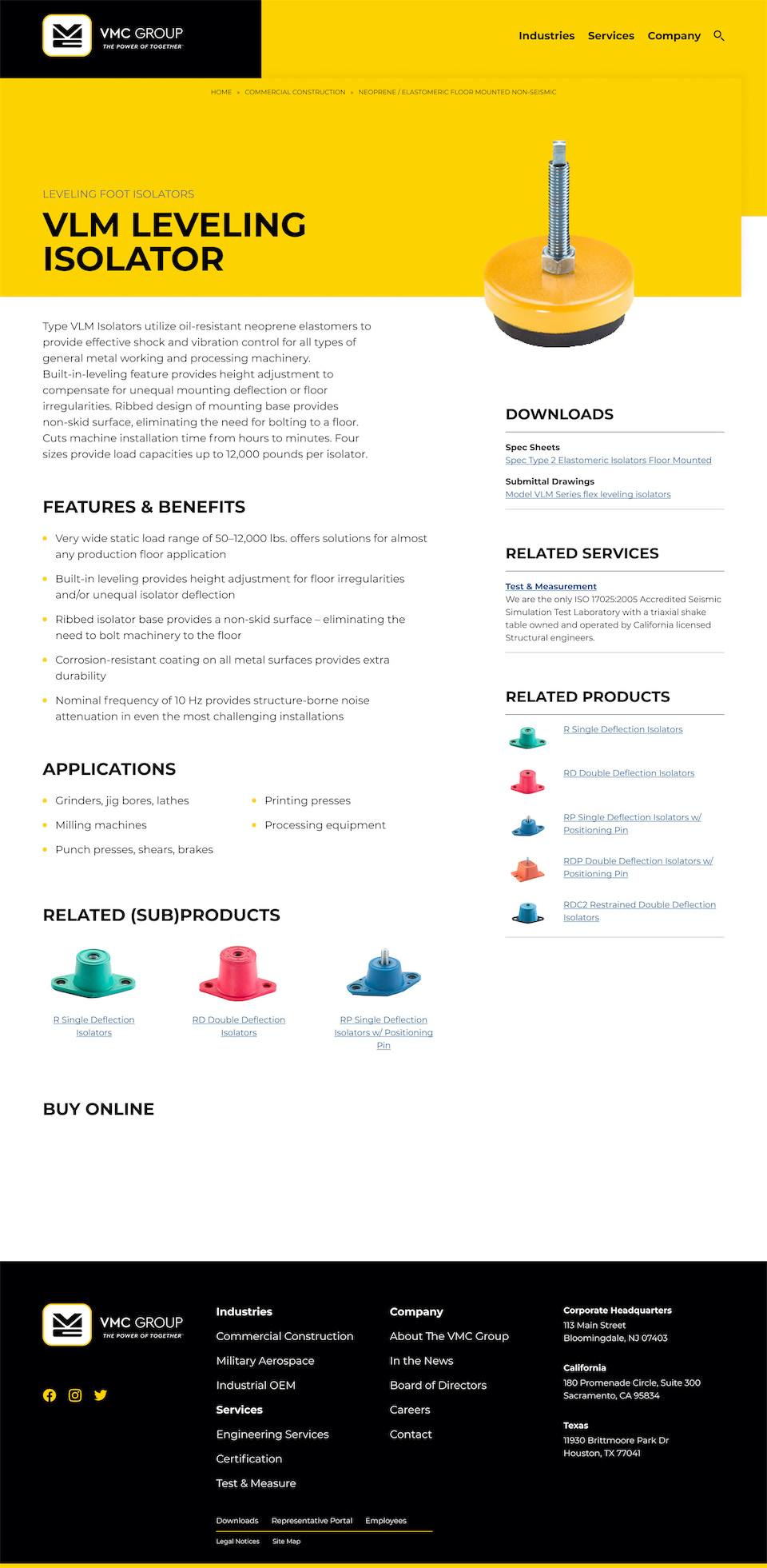 VMC Group Product Page